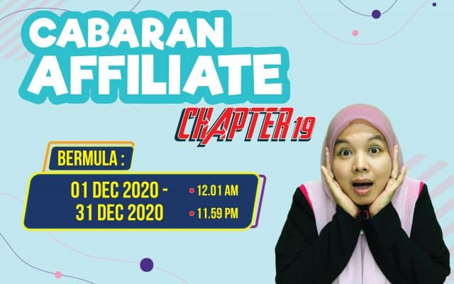 Cabaran Affiliate Chapter-19 (1/12/2020 – 31/12/2020)